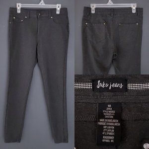 SUKO Skinny Pants Stretch Jegging Gray Size10 Business Casual Neutral High Waist